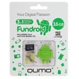 Карта памяти Qumo 3 в1 -16GB + SD adapter class 10