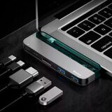 Хаб Baseus Transparent Series Type-C Multifunctional HUB Adapter 2xType-C, 2xUSB 3.0, HDMI 4K HD (CAHUB-TD0G)