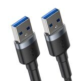 Кабель Baseus Cafule Cable USB3.0 Male TO USB3.0 Male 2A 1m Dark Gray